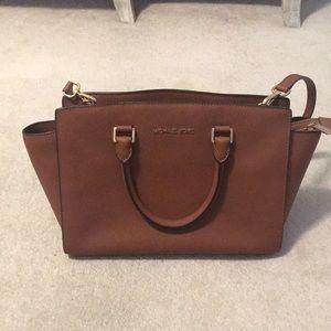 Micheal kors Brown satchel bag